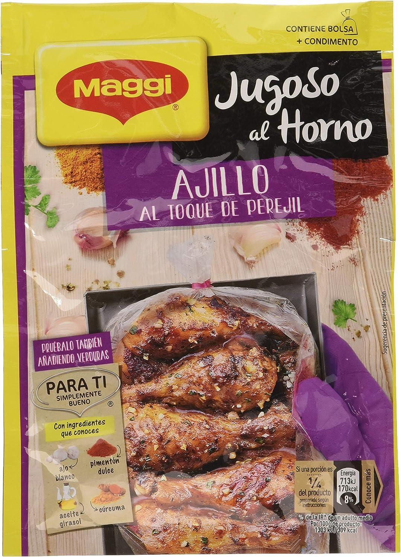 Maggi Jugoso al Horno a la Barbacoa - 1 Bolsa para Horno con Condimentos a la Barbacoa- Paquete de 16x36g - Total: 576g