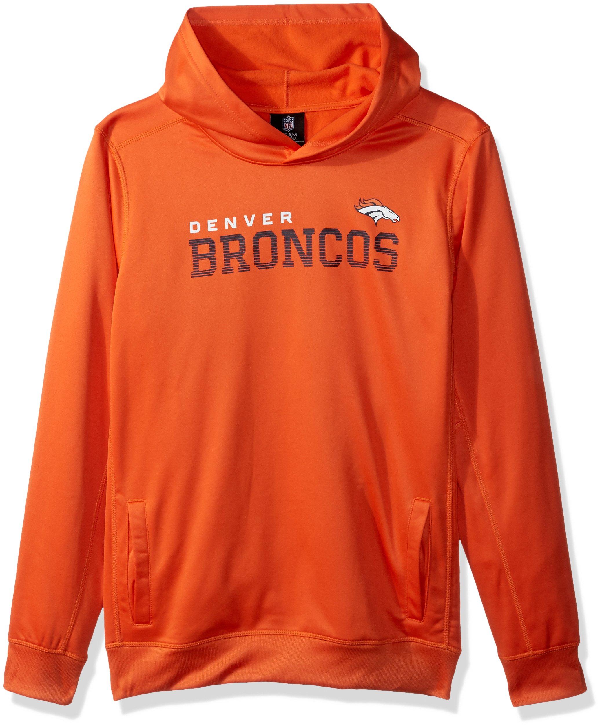 Outerstuff NFL Denver Broncos Boys Youth Next Level Performance Fleece Hood, Orange, Large(14-16)