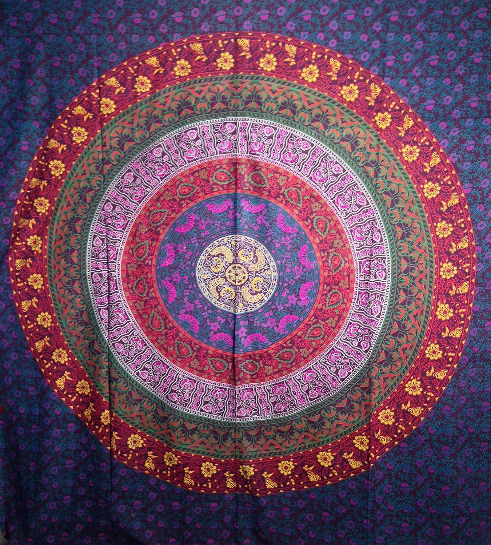 Amazoncom Multi colored Mandala Tapestry Indian Wall Hanging