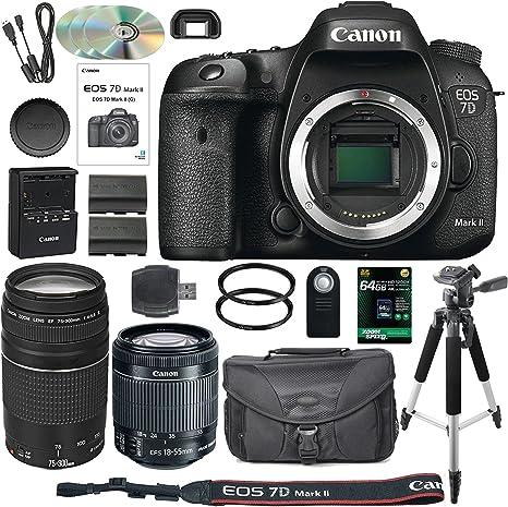 Canon EOS 7D Mark II - Cámara réflex Digital con Objetivo Canon EF ...