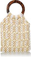 Seafolly Women's Beaded Crochet Bag with Tort Shell Handle, Carried Away Multi, One Size