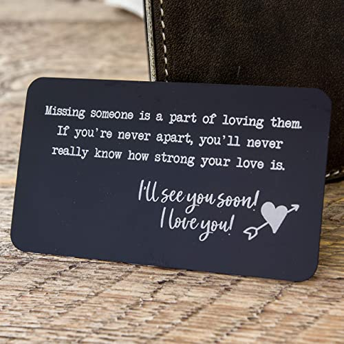 Amazoncom Metal Wallet Card Insert With Engraved Quote For Missing