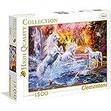 Clementoni - 31805 - High Quality Collection Puzzle - Wild unicorns - 1500 Pezzi