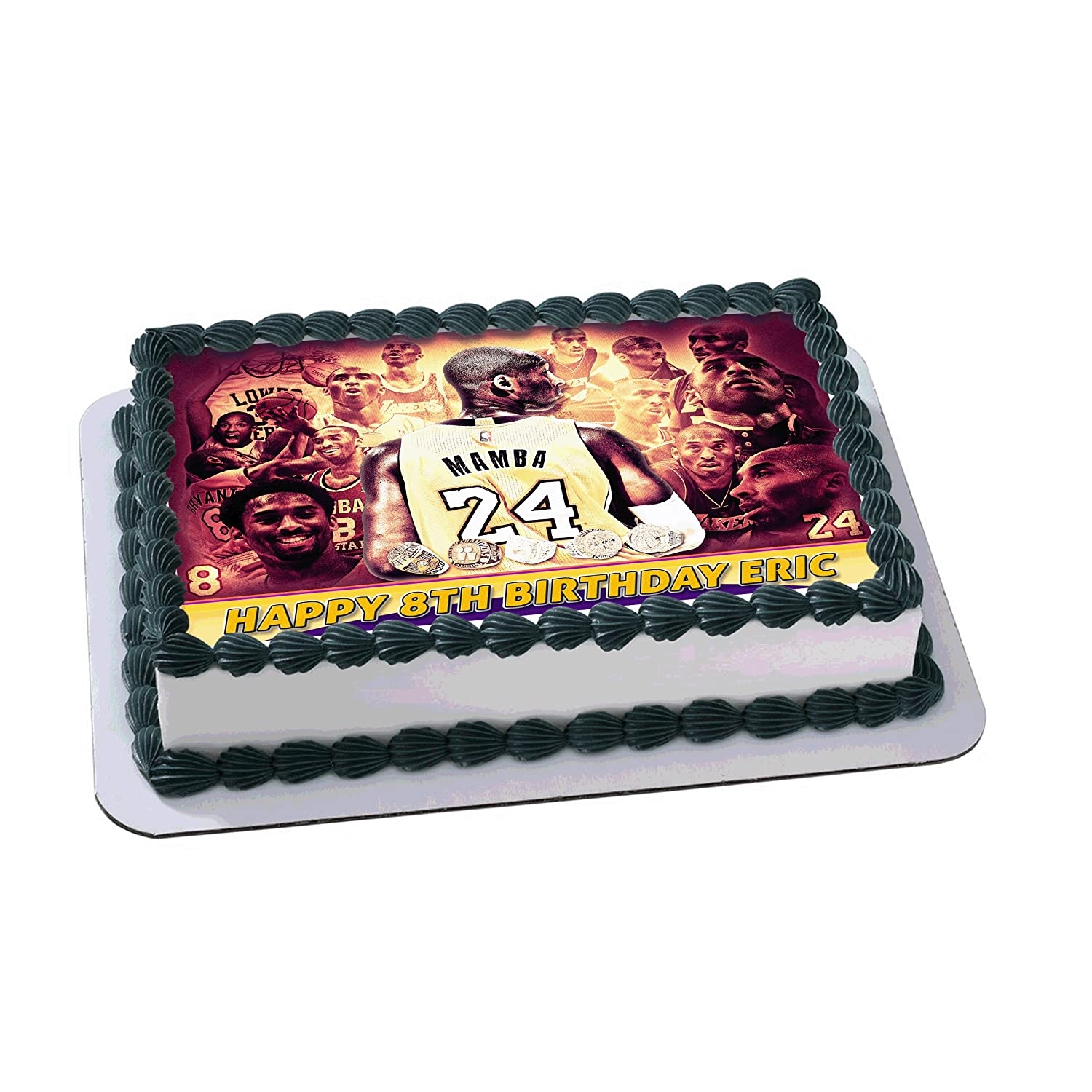 Kobe Bryant Nba 24 8 Los Angeles Lakers Edible Cake Image Topper