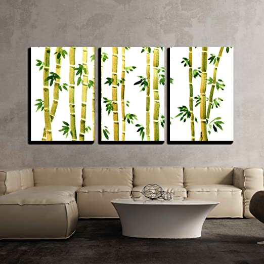 Bamboo Fence Canvas Print Large Picture Wall Art