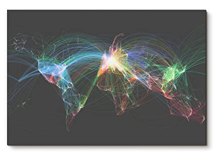 Amazon Flight Patterns Poster Flight Routes Map World Map Inspiration Flight Pattern Map