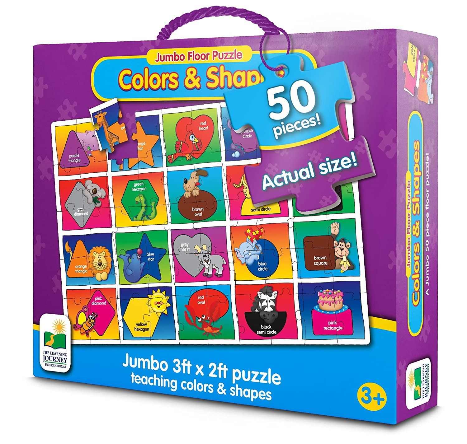 Amazon The Learning Journey Jumbo Floor Puzzles Colors and
