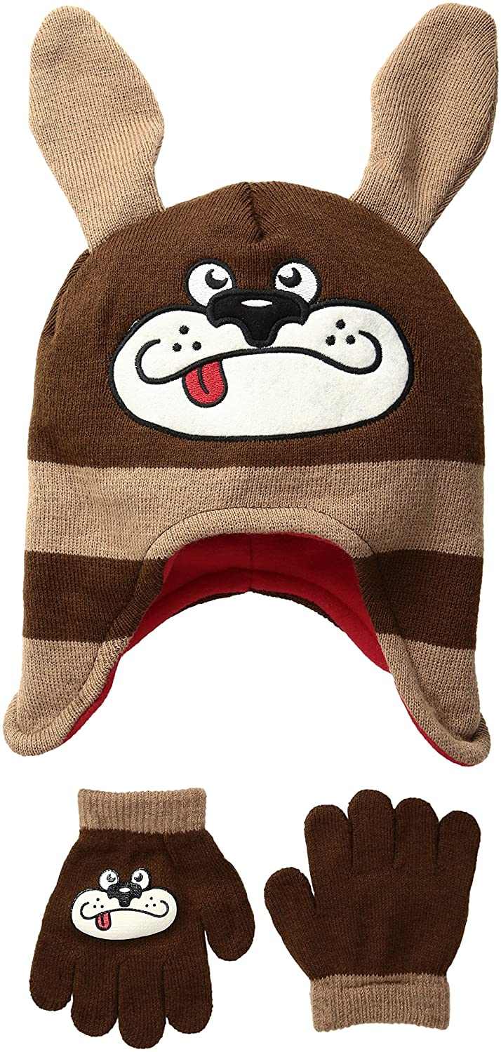 iXTREME boys Animal Hat Glove Set Brown Youth Boys IXB872041