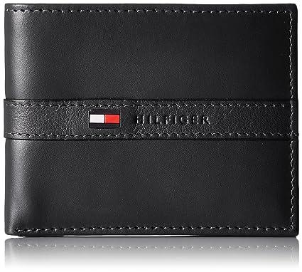 con bolsillos hombres para elegante tarjetas crédito Billetera e de plegable extraíble Hilfiger Tommy para 6 delgada identificación wqz00T