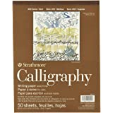 Strathmore STR- 50 Sheet Tape Bound Calligraphy Pad, 8.5 by 11""