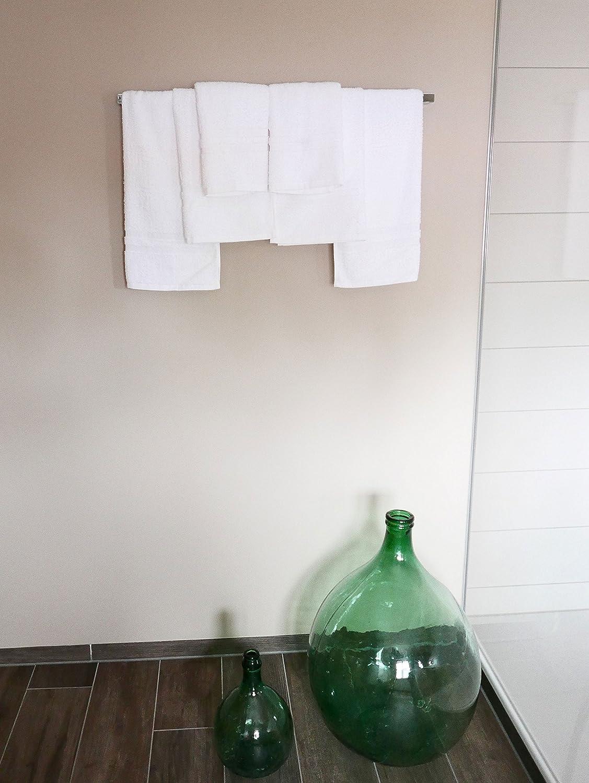 Blanc 50x70 cm ZOLLNER 6 Serviette de Toilette en Coton