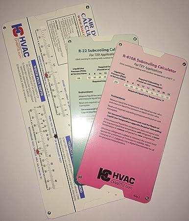HVAC Chart 3 Pack R 22 Superheat Subcooling Calculator R 410a Superheat Subcooling Calculator And Duct Calculator