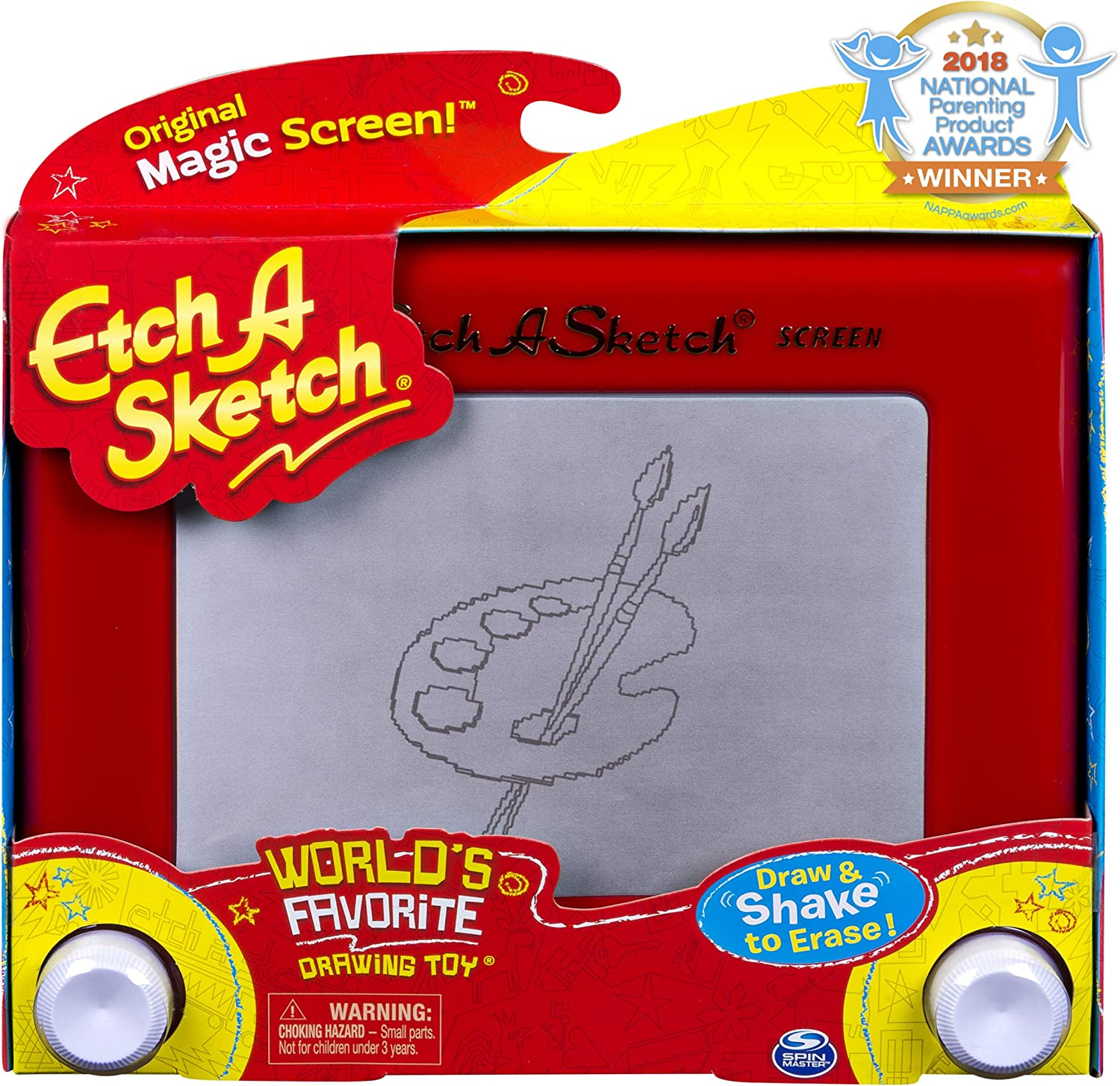 Etch A Sketch, Classic Red Drawing Toy with Magic Screen, for Ages 3 and Up, 1.63, Model:20083951-6041762