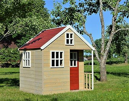 """Casa de juegos de madera para niños """"Garten Villa"""", casa infantil de"""