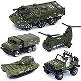CORPER TOYS ミニカー 5台セット 戦車コレクション 自衛隊 軍事車両 戦闘車両 ヘリコプター 男の子 おもちゃ モデルカー 1/64 (合金&プラスチック製)