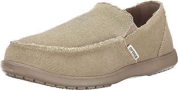 Crocs Men's Santa Cruz Loafer, Khaki/Khaki, 10 D(M) US