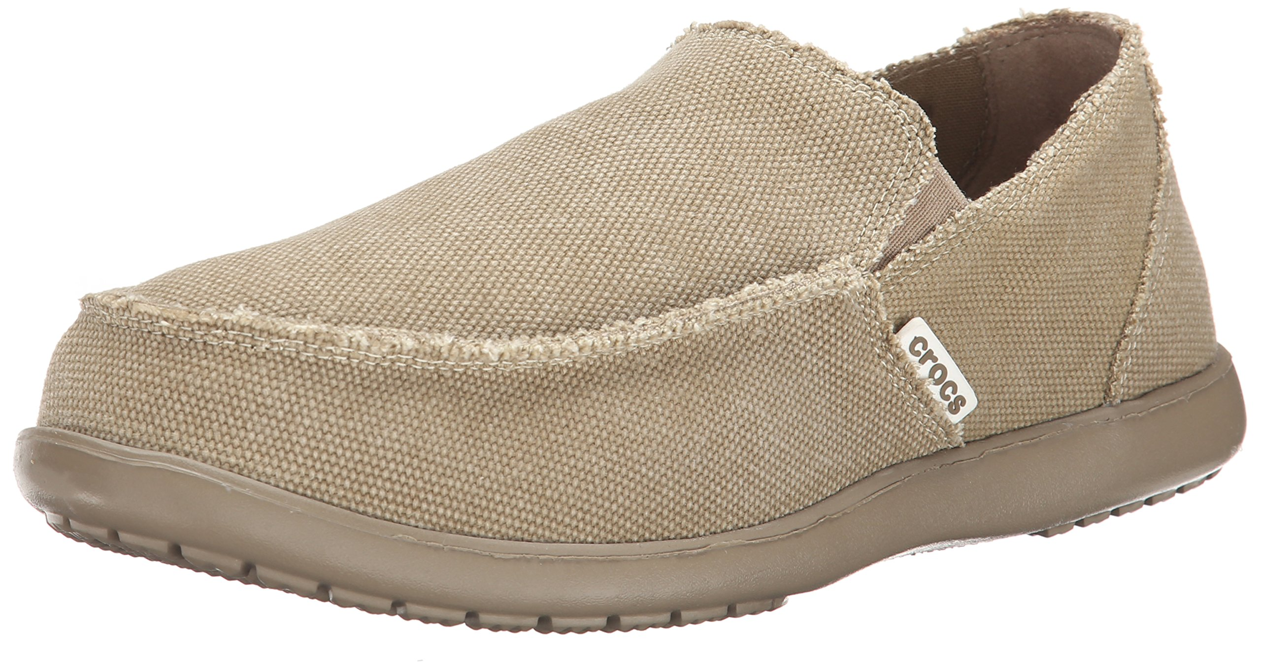 Crocs Men's Santa Cruz Slip-On Loafer,Khaki/Khaki,13 (D) M US by Crocs