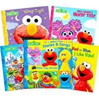 Sesame Street Book Bundle Elmo Read Play Sound Book Set - 4 Pack Sesame Street Board Books for Toddlers Boys Girls Elmo…