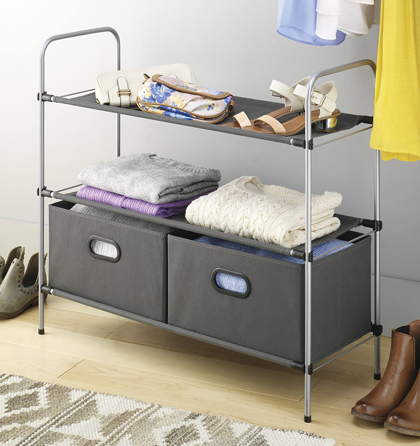 Amazon.com: Whitmor Closet Shelves And Drawers   Multipurpose Portable  Closet Organization Solution: Home U0026 Kitchen
