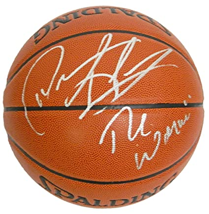 new arrival 16f39 50f1d Dennis Rodman Signed Ball - Spalding Indoor Outdoor w The ...