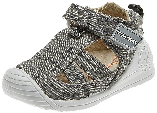 Biomecanics 182126, Zapatillas de Estar por casa para Bebés, Puntos Gris, 19 EU: Amazon.es: Zapatos y complementos