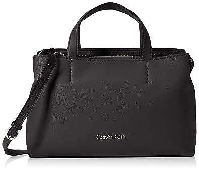 dbc02c54c Calvin Klein Jeans Drive Tote, Women's Shoulder Bag, Black, 13x25x40 cm (B