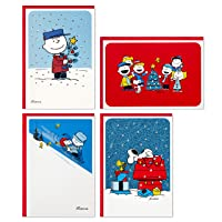 Hallmark Peanuts Boxed Christmas Cards Assortment, Classic Comics (4 Designs, 16 Cards and Envelopes)
