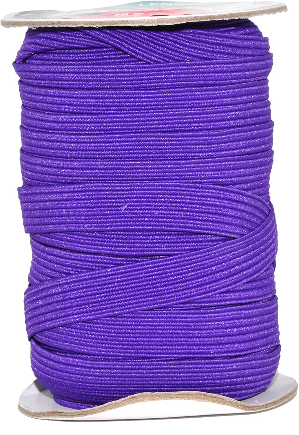 Mandala Crafts Colored Polyester Rubber Knit Flat Elastic Stretch Band Cord Spool Roll for Sewing Clothes Waistbands 1//4 inch 6mm 50 Yards, Turquoise
