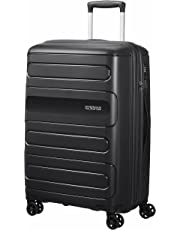 American Tourister 107527 Sunside Expandable Spinner Travel Suitcase, 68 cm Height, Black, 68 Centimeters