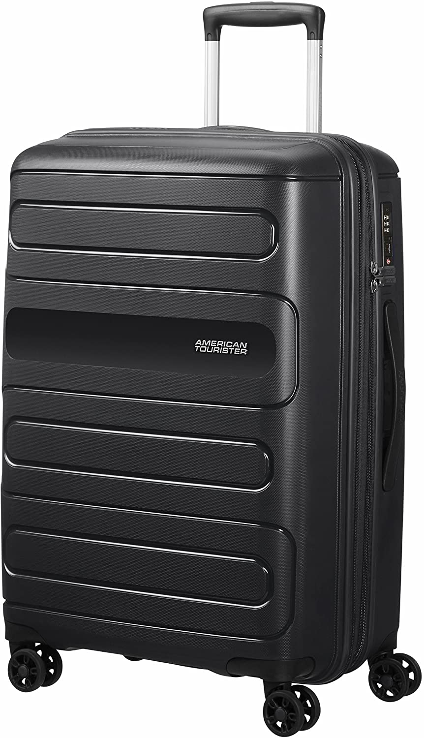 American Tourister Sunside Spinner 68 Expandible, 3.7 kg, 72.5/83.5 l, Negro (Black)