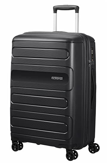 American Tourister Sunside Spinner Expandable Hard Trolley 67 cm, Black Luggage