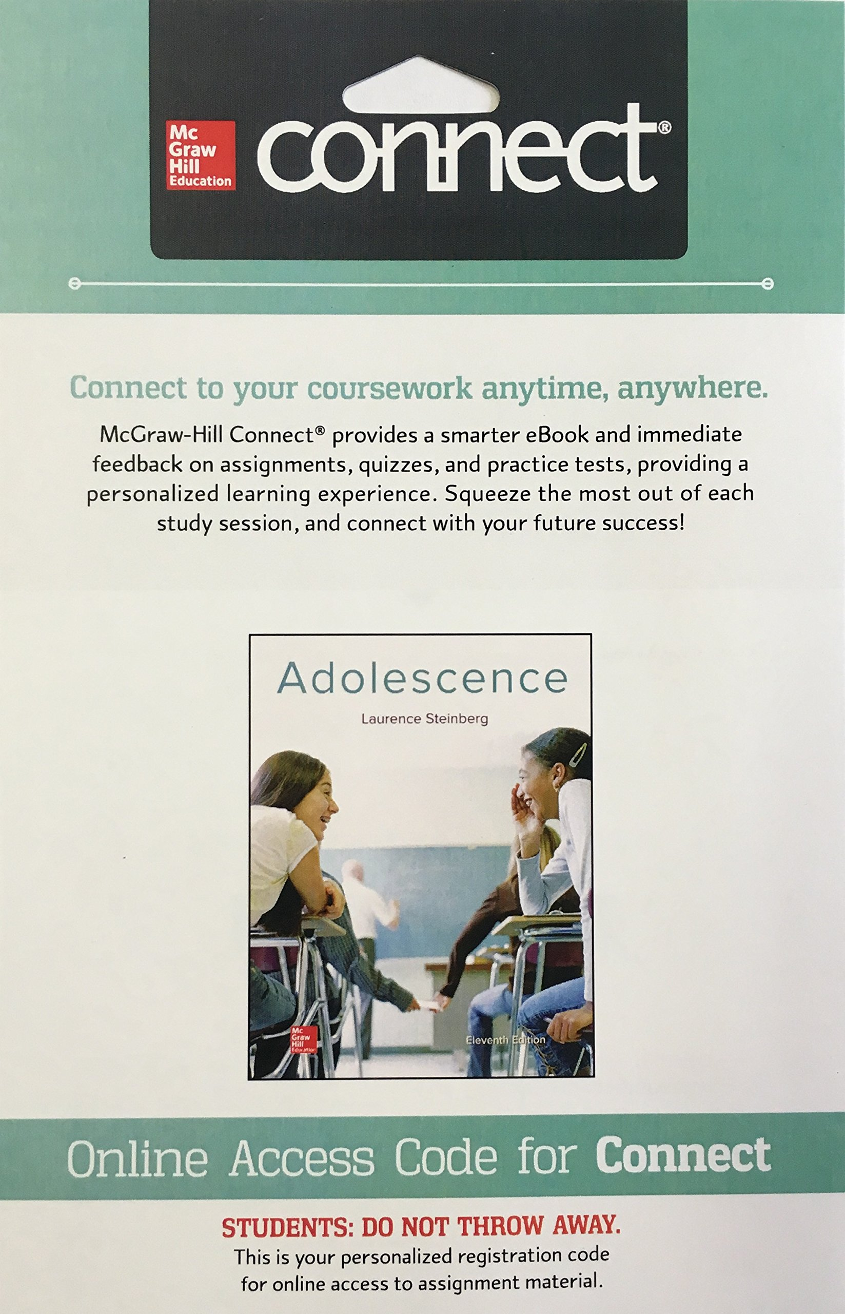 Connect Access Card for Adolescence | with access code: Laurence Steinberg:  9781259761249: Amazon.com: Books
