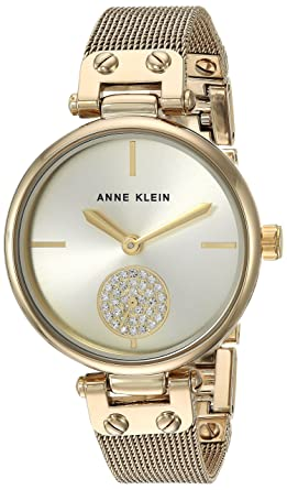 40db04763 Anne Klein Women's Quartz Metal and Stainless Steel Dress Watch,  Color:Gold-Toned