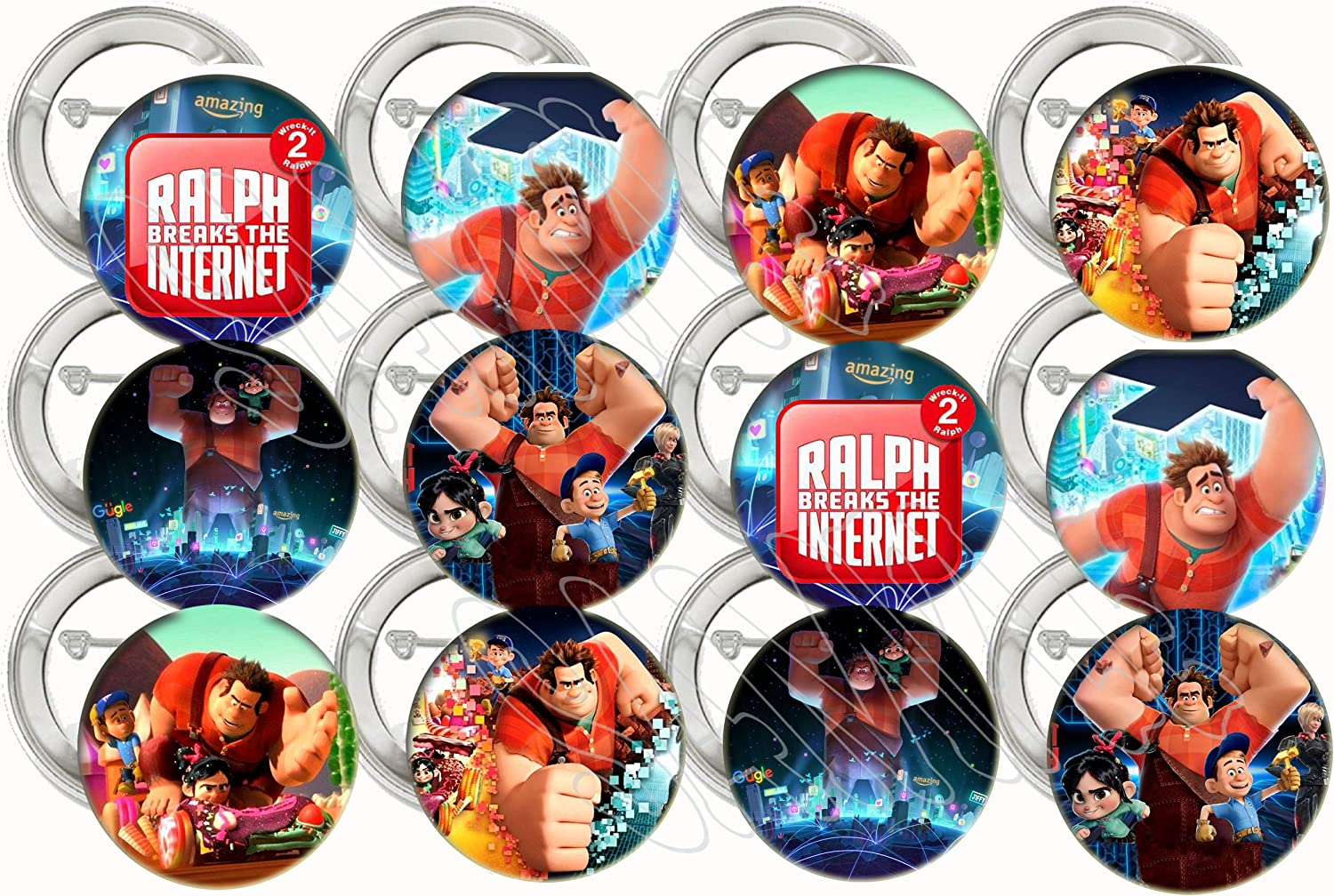 20 Ralph Breaks the Internet STICKERS Party Favors Supplies Wreck it Ralph 2