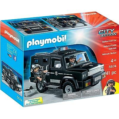 PLAYMOBIL Tactical Unit Car: Toys & Games