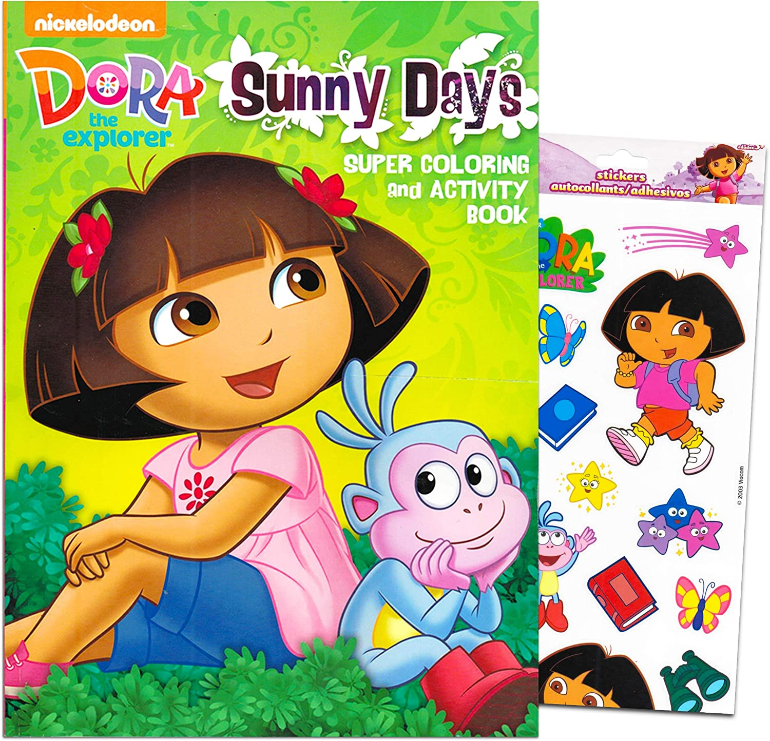 - Amazon.com: Dora The Explorer Giant Coloring Book With Stickers