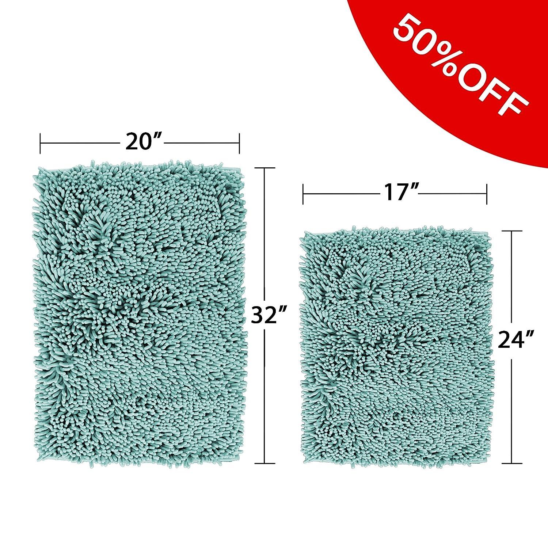 Amazon.com: Flamingo P Super Soft Microfiber Bathroom Rugs Non Slip ...