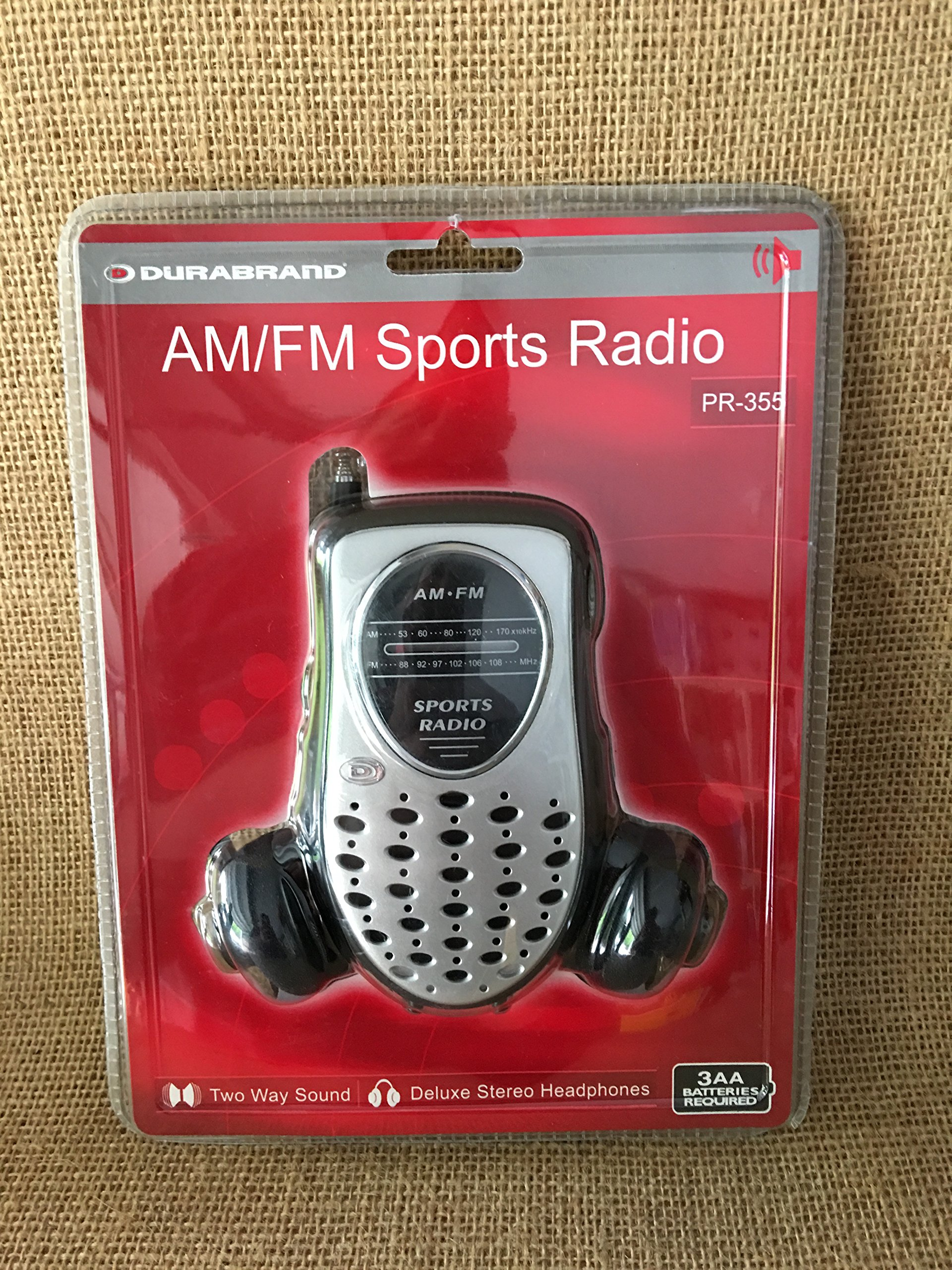Am/fm Sports Radio Two Way Sound Deluxe Stereo Headphones Pr-355