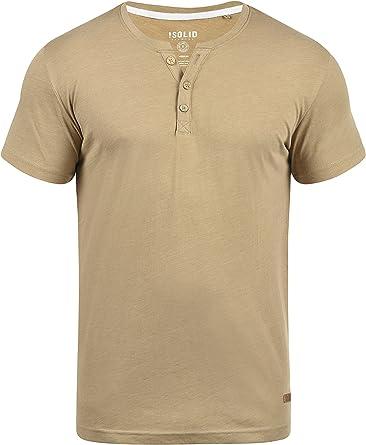 TALLA S. !Solid Volker Camiseta Básica De Manga Corta T-Shirt para Hombre con Cuello Grandad