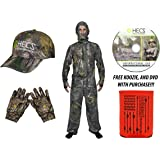 HECS Human Energy Conceal 3 piece Suit - WITH DVD & KOOZIE - Realtree and Mossy Oak, S-3XL - HAT & GLOVES AVAILABLE