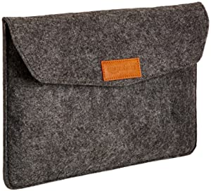 AmazonBasics 11-Inch Felt Laptop Sleeve - Charcoal