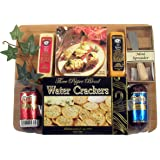 Board Of Directors - Meat & Cheese Gift Arranged On Bamboo Cutting Board With Sausage, Cheese And Crackers And A Spreader (Small)