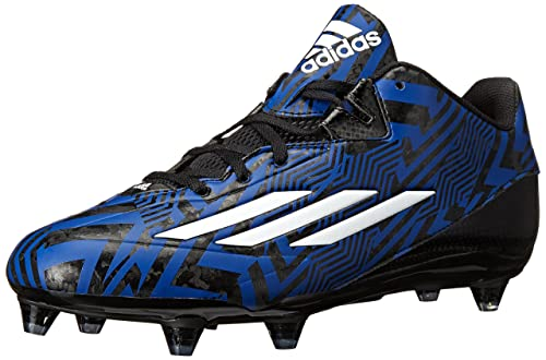 adidas Performance Men's Filthyspeed Low D Football Cleat,  Black/White/Collegiate Royal,
