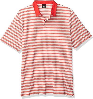 Oakley Aero Striped Polo Camisa, Gris Niebla, S para Hombre: Amazon.es: Ropa y accesorios