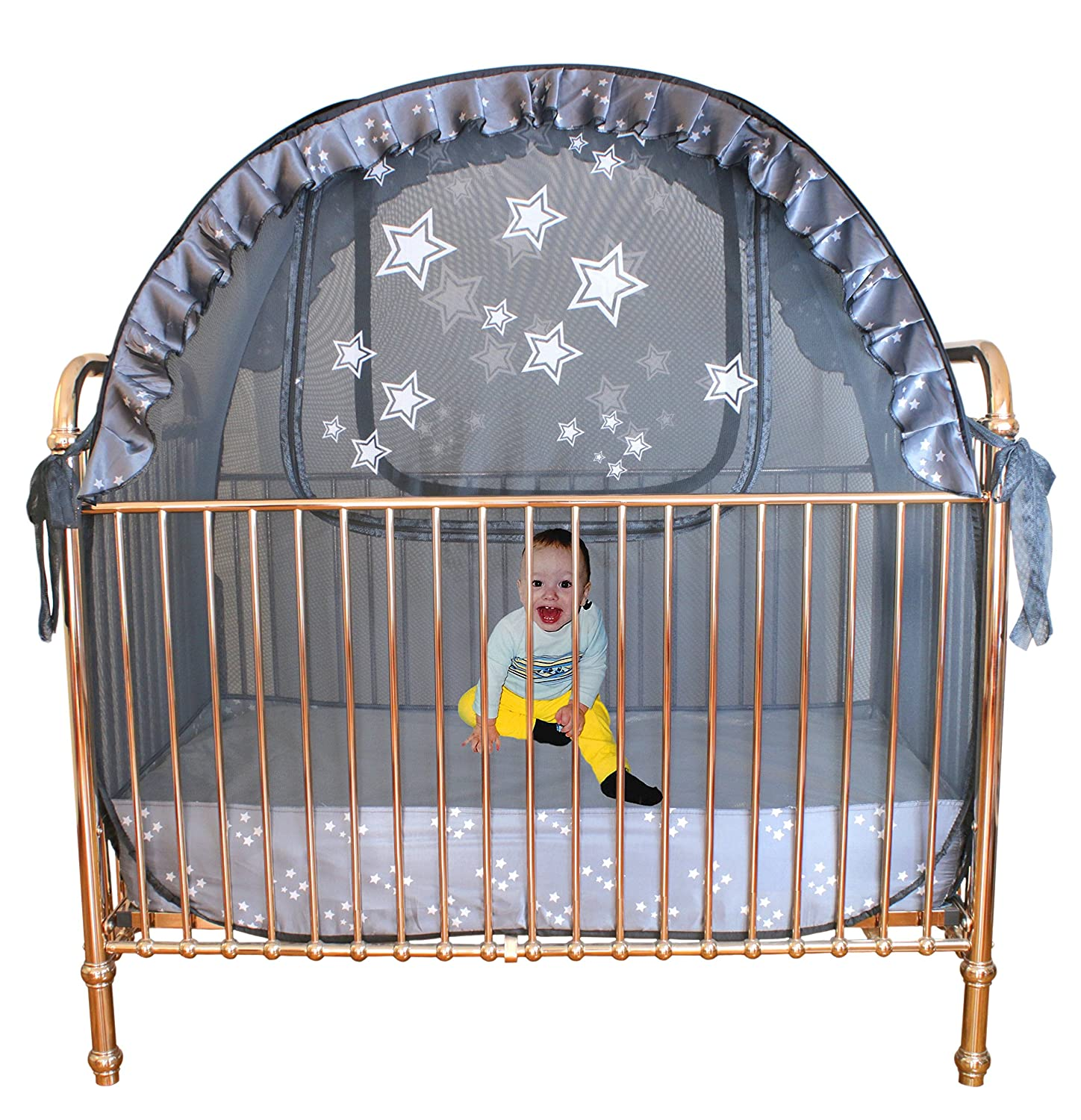 Best Baby Crib Tent Tried and Tested - Safe and Secure - Proven to Keep Your Baby Safe from Climbing Out. Finest Quality Original Australian Design Pop Up Crib Canopy SNCT