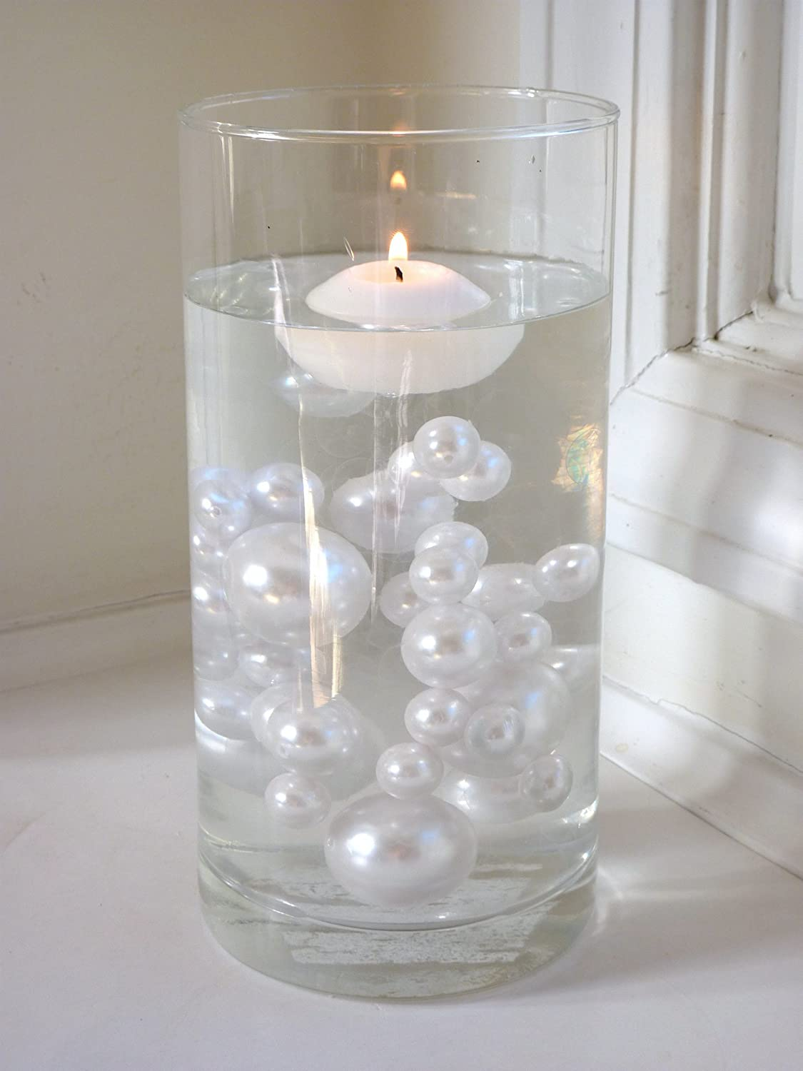 Amazon 2 packs discount jumbo assorted sizes all white amazon 2 packs discount jumbo assorted sizes all white pearls vase fillers for centerpieces to float the pearls order the transparent water gels reviewsmspy