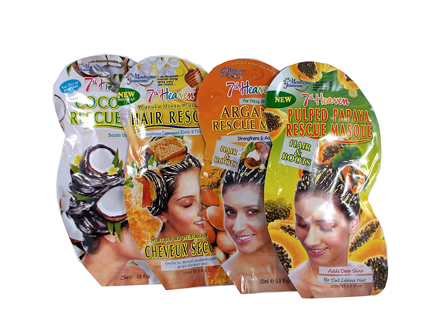 Montagne Jeunesse 7th Heaven Rescue HAIR Mask Sachets - Pack of 6