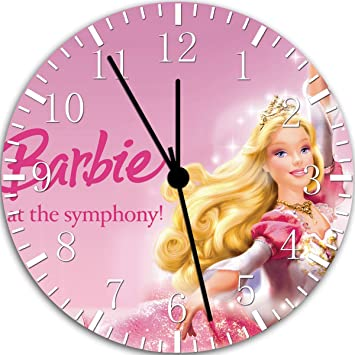 Muñeca Barbie reloj de pared 25,4 cm color y para pared W106