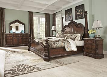 Ledelle   5pc King Poster Bedroom Set