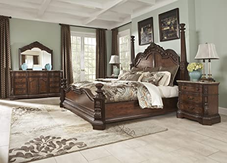 Amazon.com : Ledelle - 5pc King Poster Bedroom Set : Everything Else